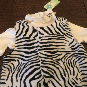 NWt gymboree 3pc mod Zebra dress shirt 3t 3 outfit